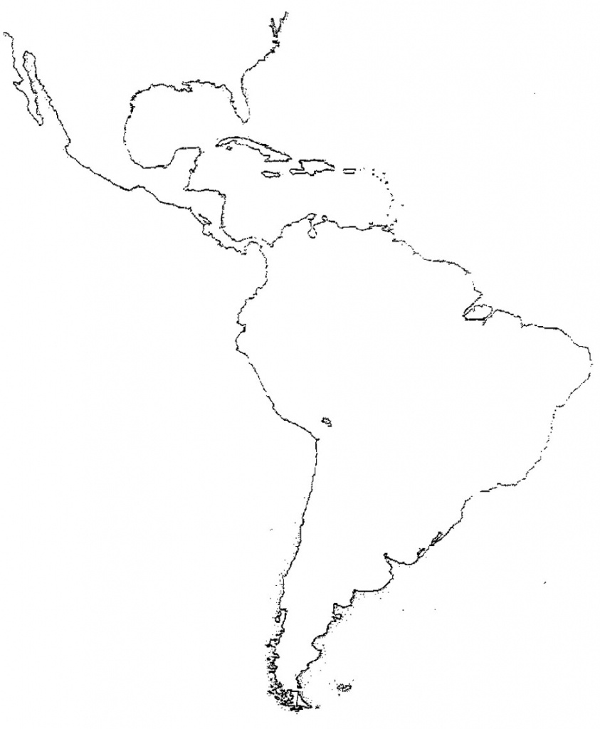 51 Full Latin America Map Study - South America Outline Map Printable