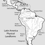 51 Full Latin America Map Study   South America Physical Map Printable