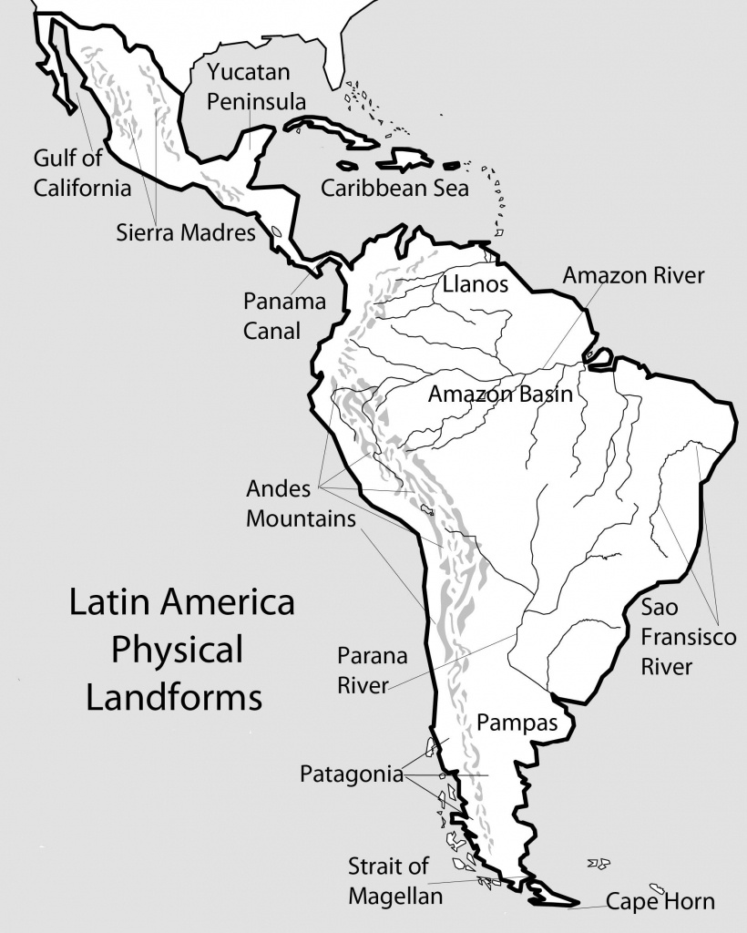 51 Full Latin America Map Study - South America Physical Map Printable