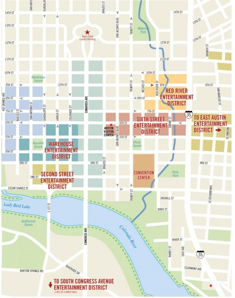 6 Rue Austin Carte - Austin 6Th Street Map (Texas - Usa) - Street Map Of Austin Texas