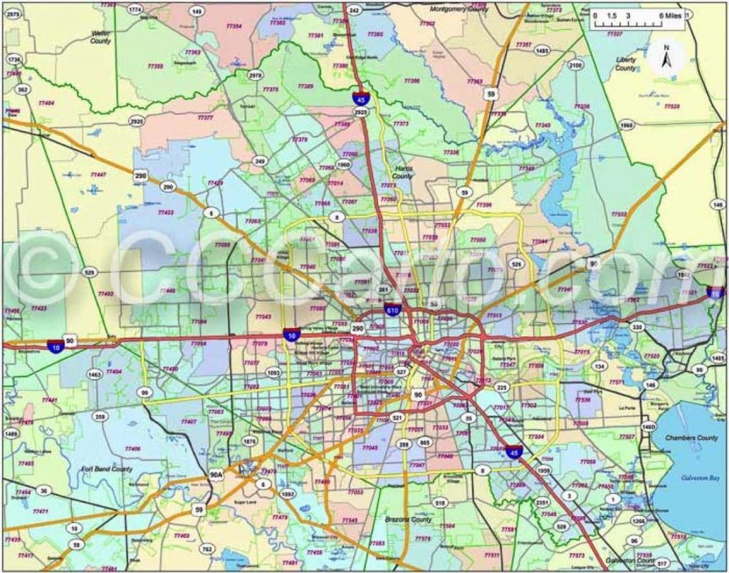 600 Dpi Harris County Zip Codes   Houston Zip Code Map   Harris - Houston Zip Code Map Printable