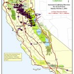 632 Lightning Strikes Hit Northern California On Sunday | Yubanet   Lightning Map California