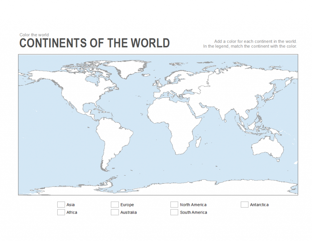 7 Printable Blank Maps For Coloring Activities In Your Geography - World Map Continents Outline Printable