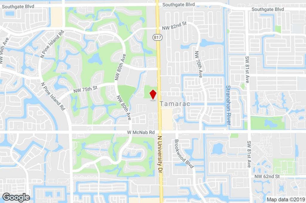 7401 N University Dr, Tamarac, Fl, 33321 - Medical Property For - Tamarac Florida Map