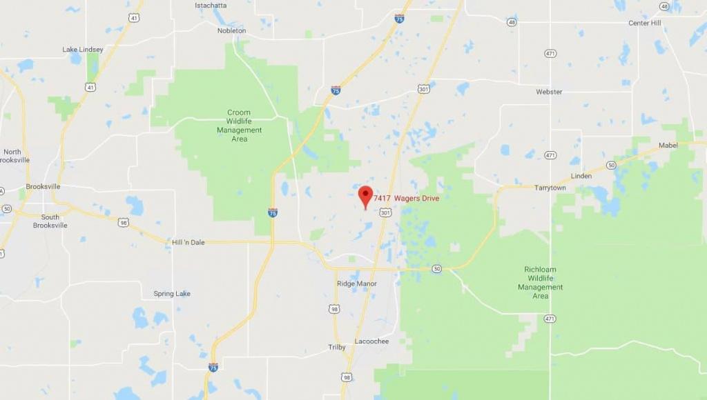 7417 Wagers Dr Webster, Florida   Terrenos Na Florida - Webster Florida Map