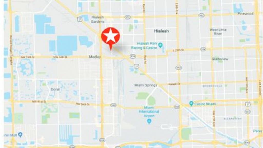 7827 Northwest 72Nd Avenue, Medley, Fl 33166 - Industrial Property - Medley Florida Map