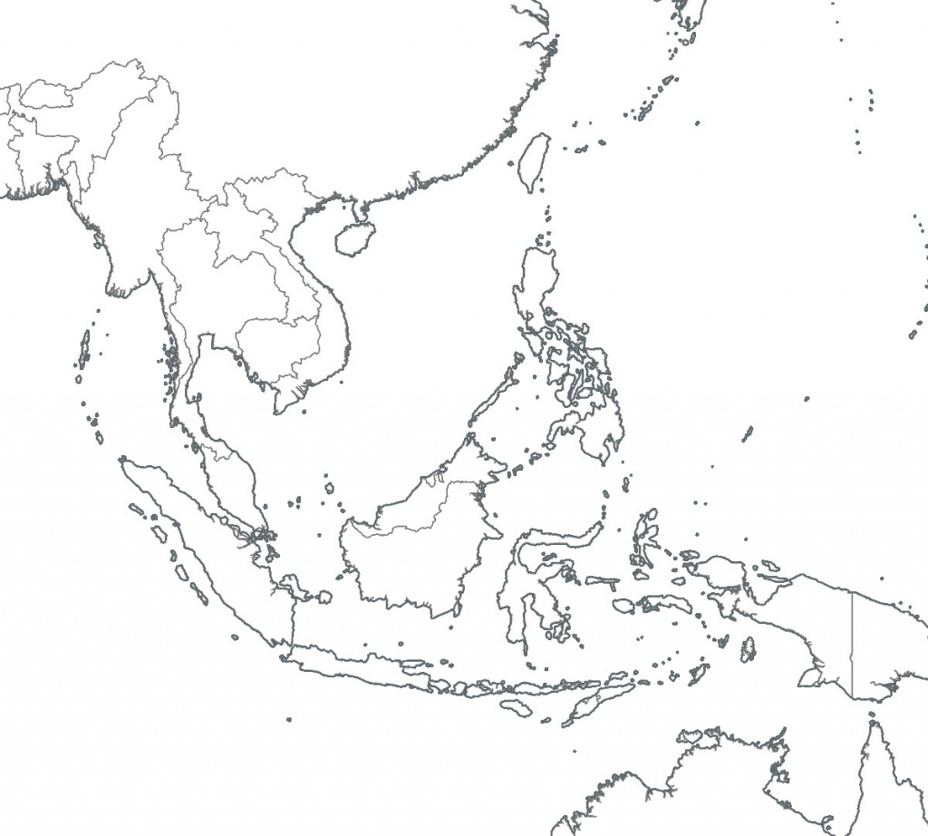 8 Free Maps Of Asean And Southeast Asia - Asean Up - Printable Map Of Southeast Asia