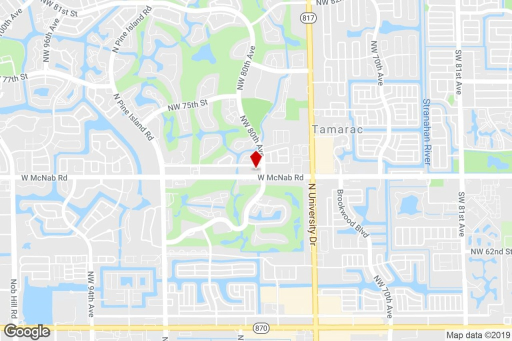 8001-8085 W Mcnab Rd, Tamarac, Fl, 33321 - Property For Lease On - Tamarac Florida Map