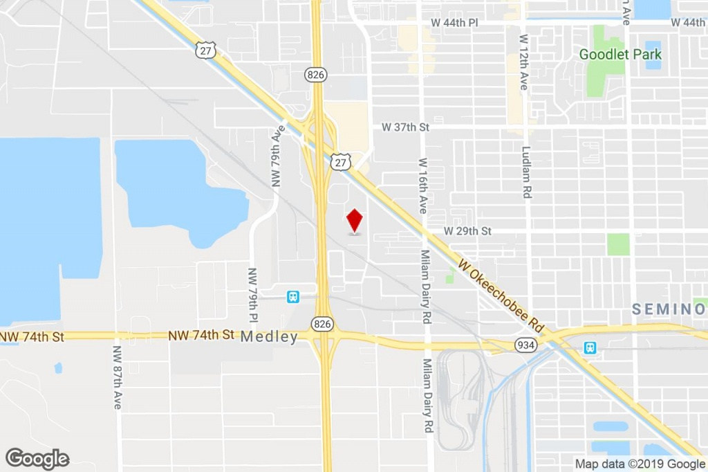 8130 Nw 74Th Ave, Medley, Fl, 33166 - Manufacturing Property For - Medley Florida Map