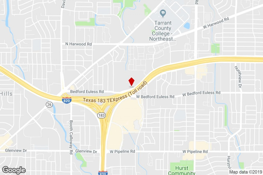 8625 Airport Fwy, North Richland Hills, Tx, 76180 - Bank Property - Richland Hills Texas Map
