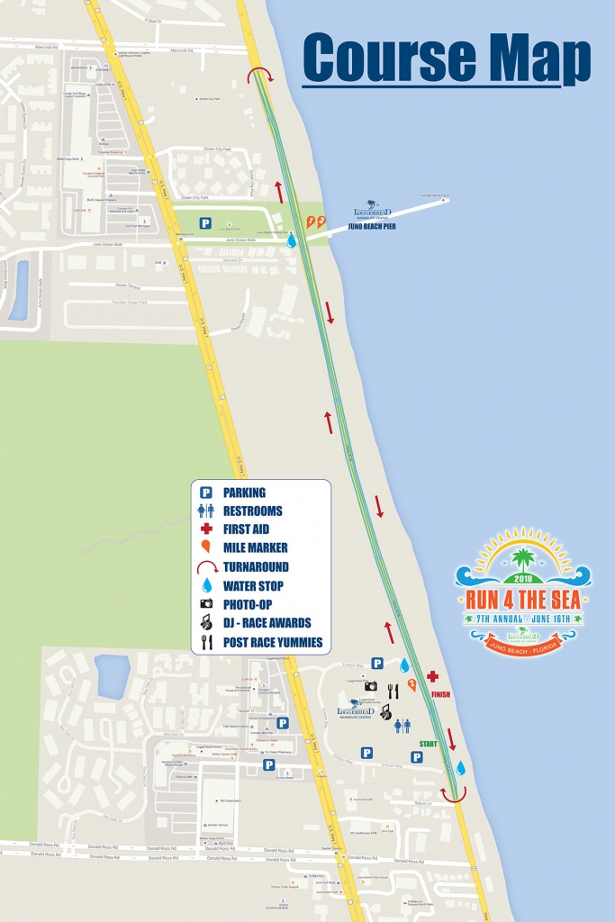 8Th Annual Run 4 The Sea, Presenteddowntown At The Gardens - Juno Beach Florida Map