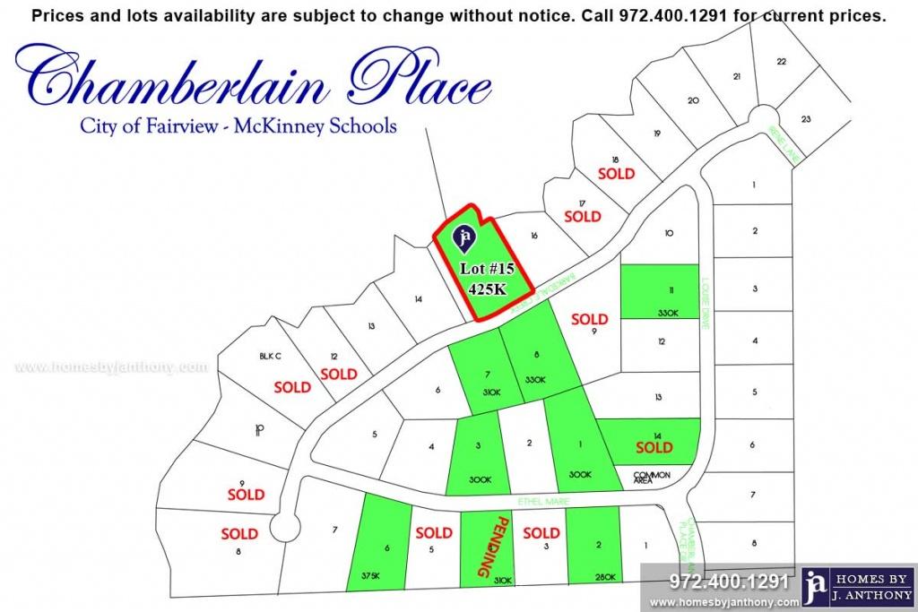 915 Barksdale Creek Lane, Fairview, Tx. 1.35 Acre Lot For Sale - Fairview Texas Map