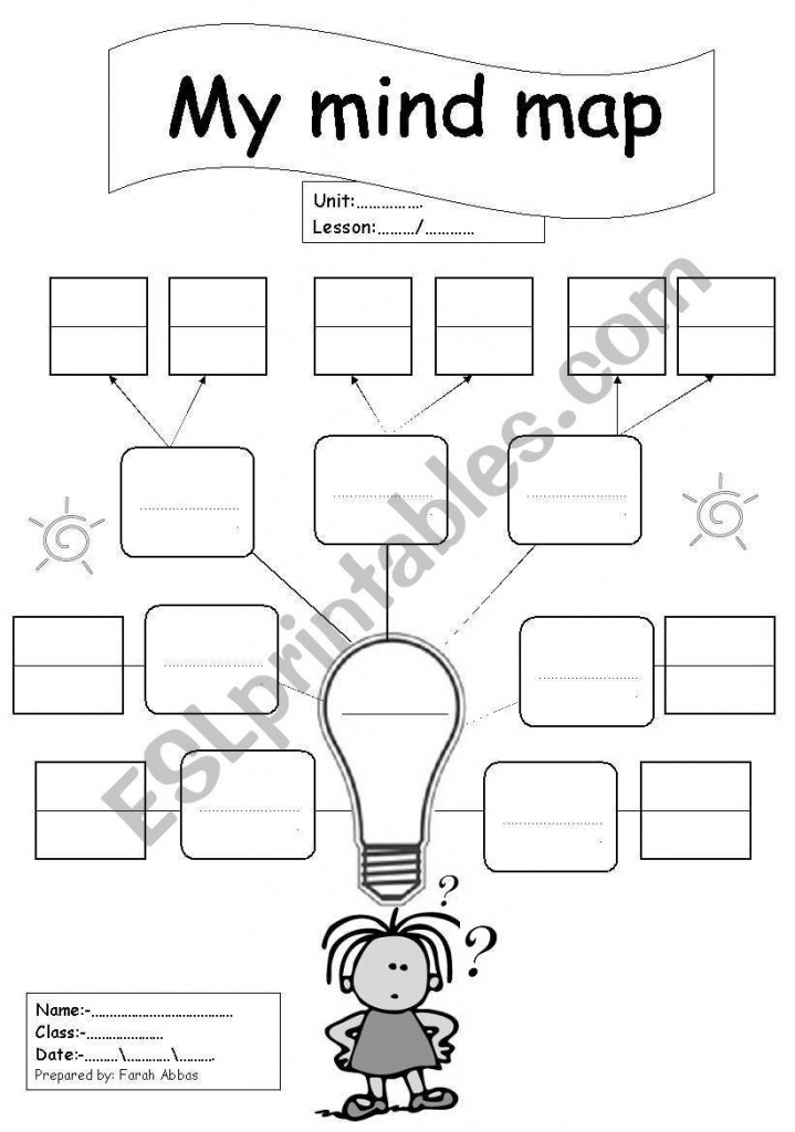 Blank Mind Map Template Printable
