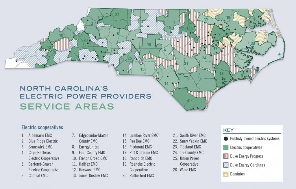 A Guide To North Carolina's Electric Power Providers - Carolina Country - Florida City Gas Coverage Map