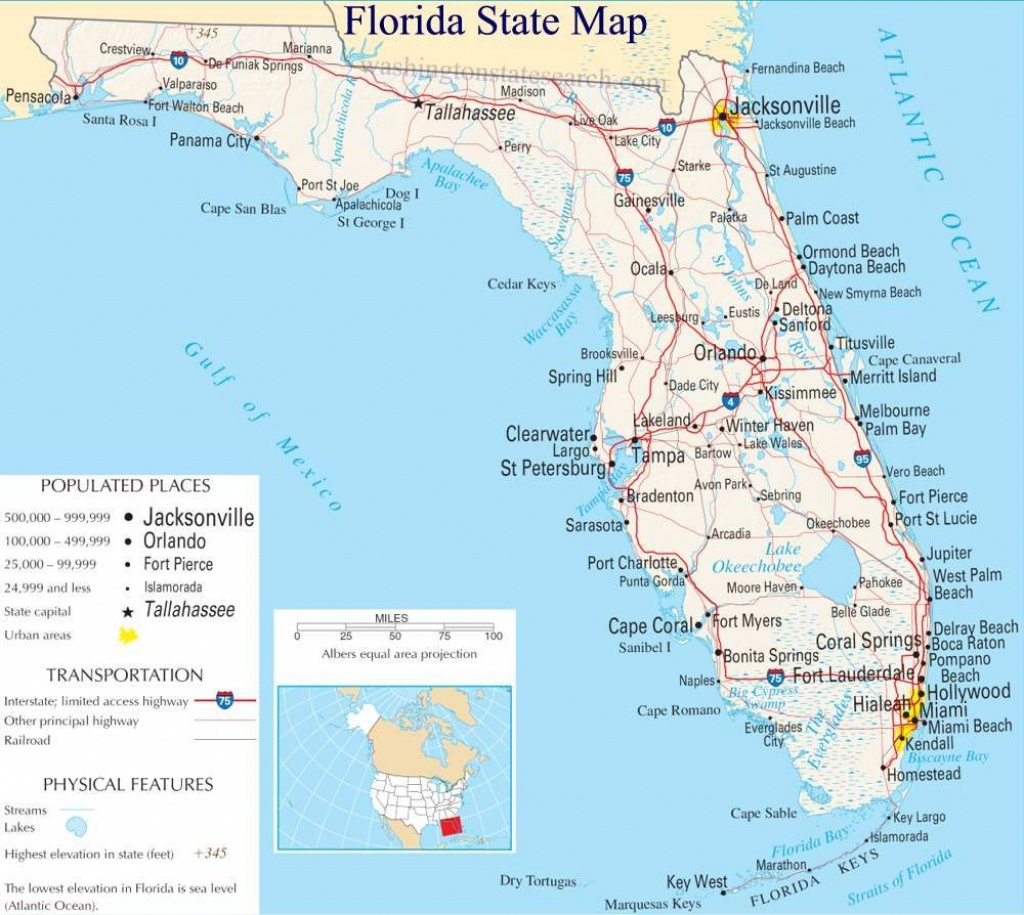 A Large Detailed Map Of Florida State | For The Classroom In 2019 - Florida St Map
