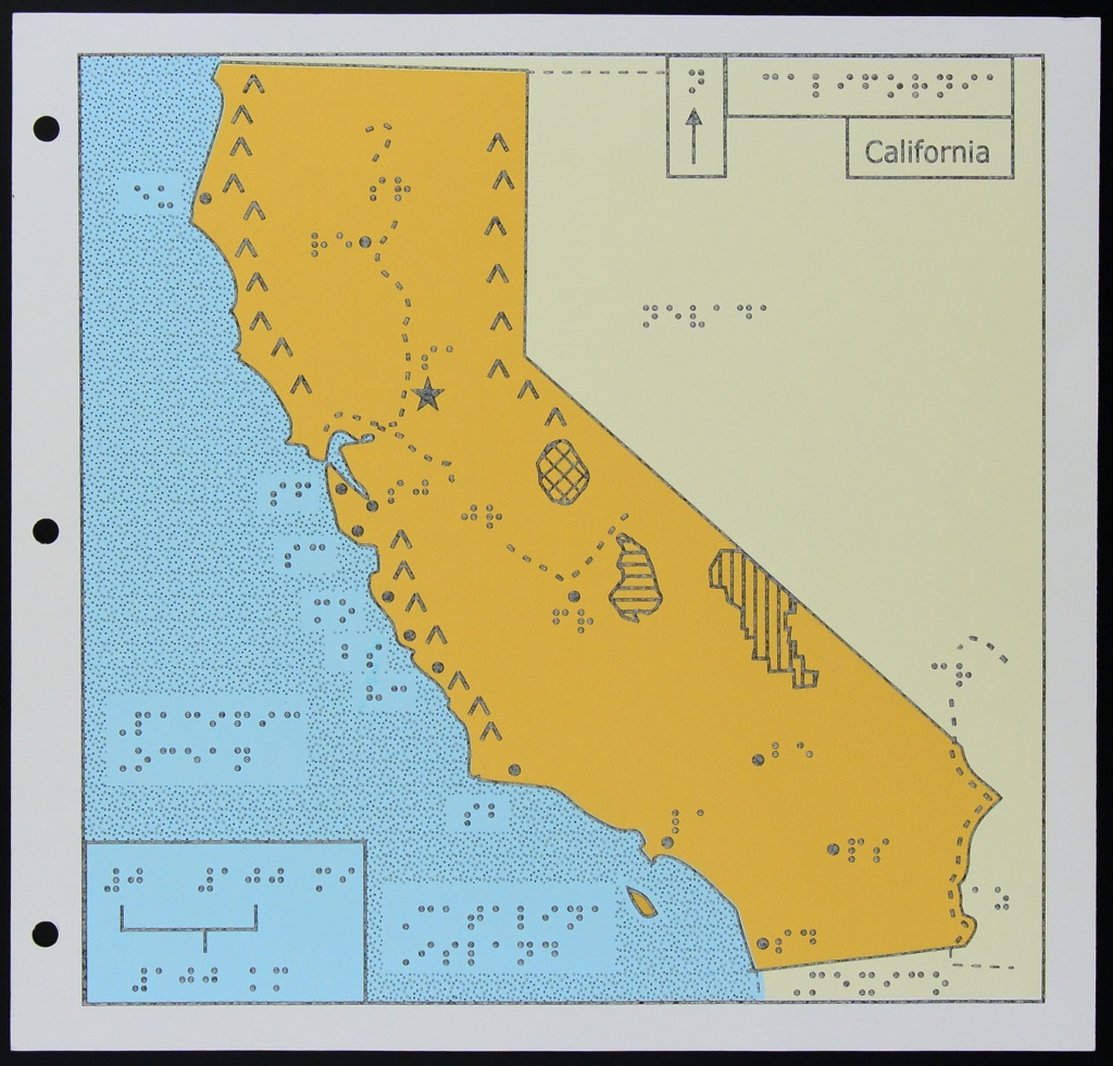 A Map Of California For The Blind   Kcet - Picture Of California Map