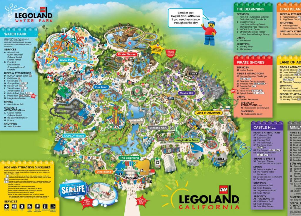 A Map Of Legoland California   Legoland California Resort; Carlsbad - Legoland California Water Park Map