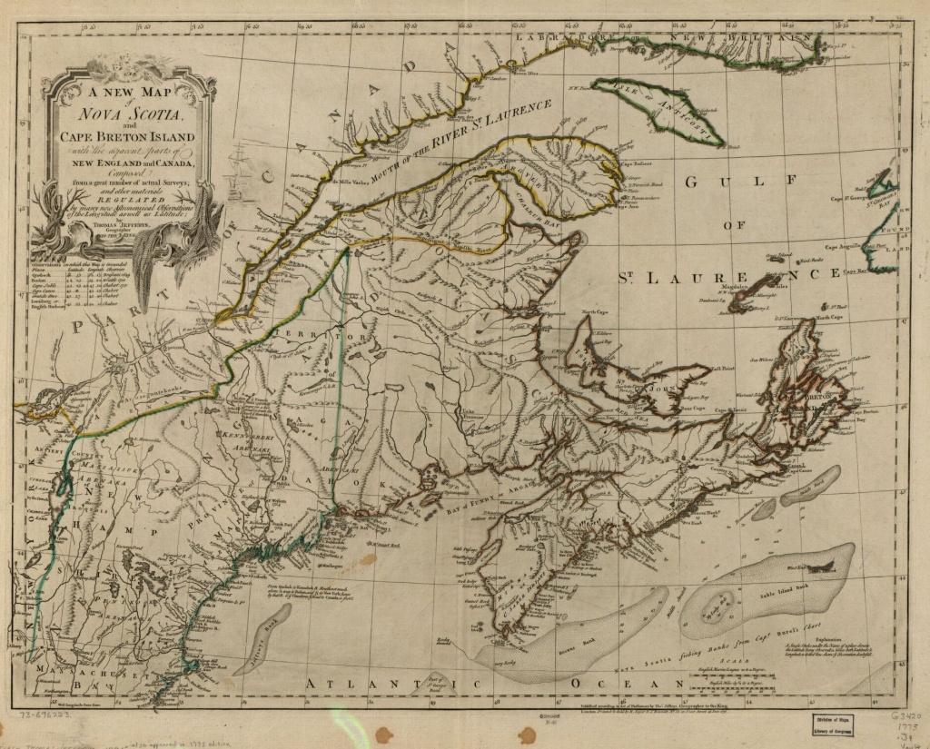 A New Map Of Nova Scotia, And Cape Breton Island With The Adjacent - Printable Map Of Cape Breton Island