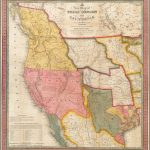 A New Map Of Texas, Oregon And California With The Regions Adjoining   California Territory Map