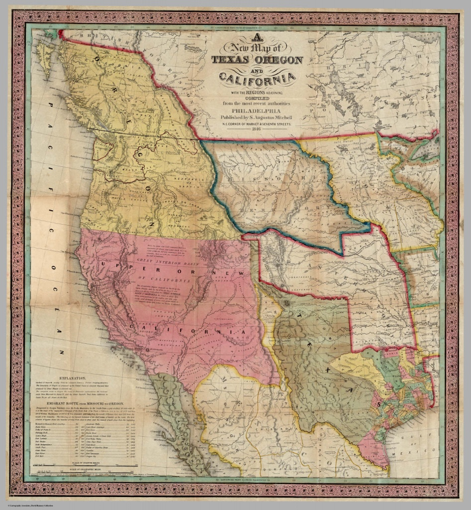 A New Map Of Texas Oregon And California With The Regions Adjoining - Map Of Oregon And California