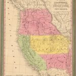 A New Map Of The State Of California, The Territories Of Oregon   California Territory Map