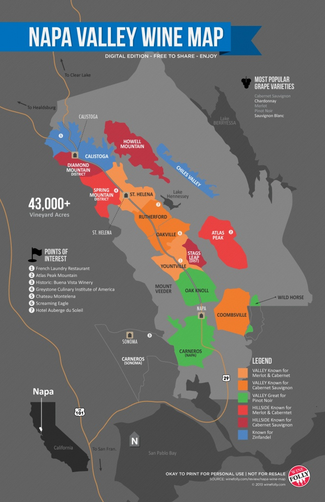 A Simple Guide To Napa Wine (Map) | Wine Folly - California Wine Ava Map