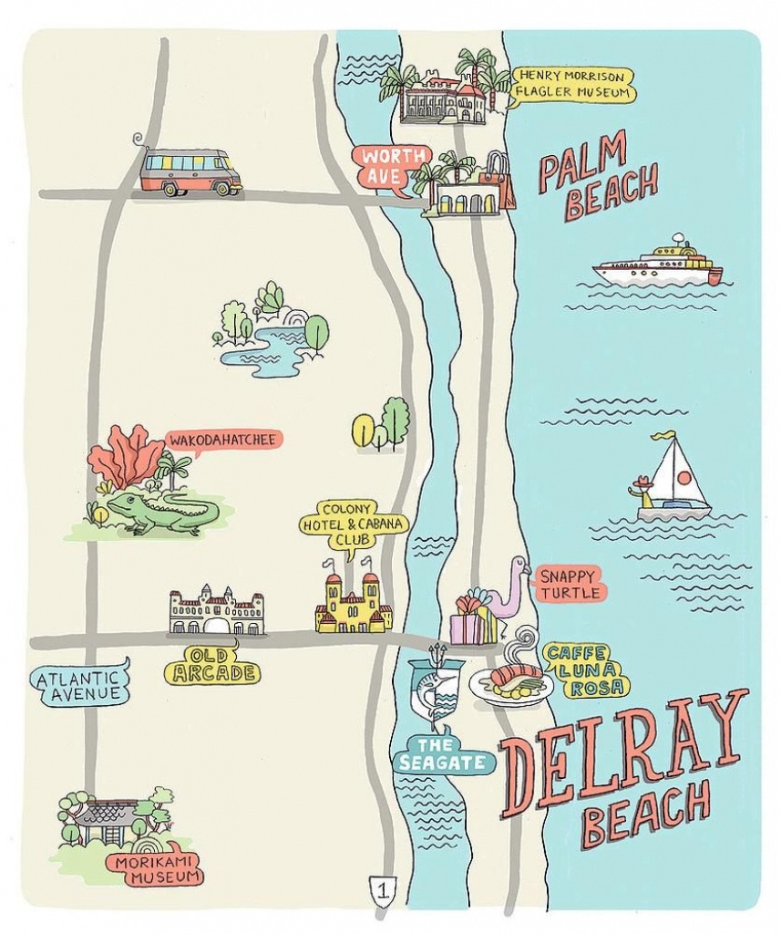 A Sunny Escape: 3 Perfect Days In Delray Beach, Florida | Other - Del Ray Florida Map