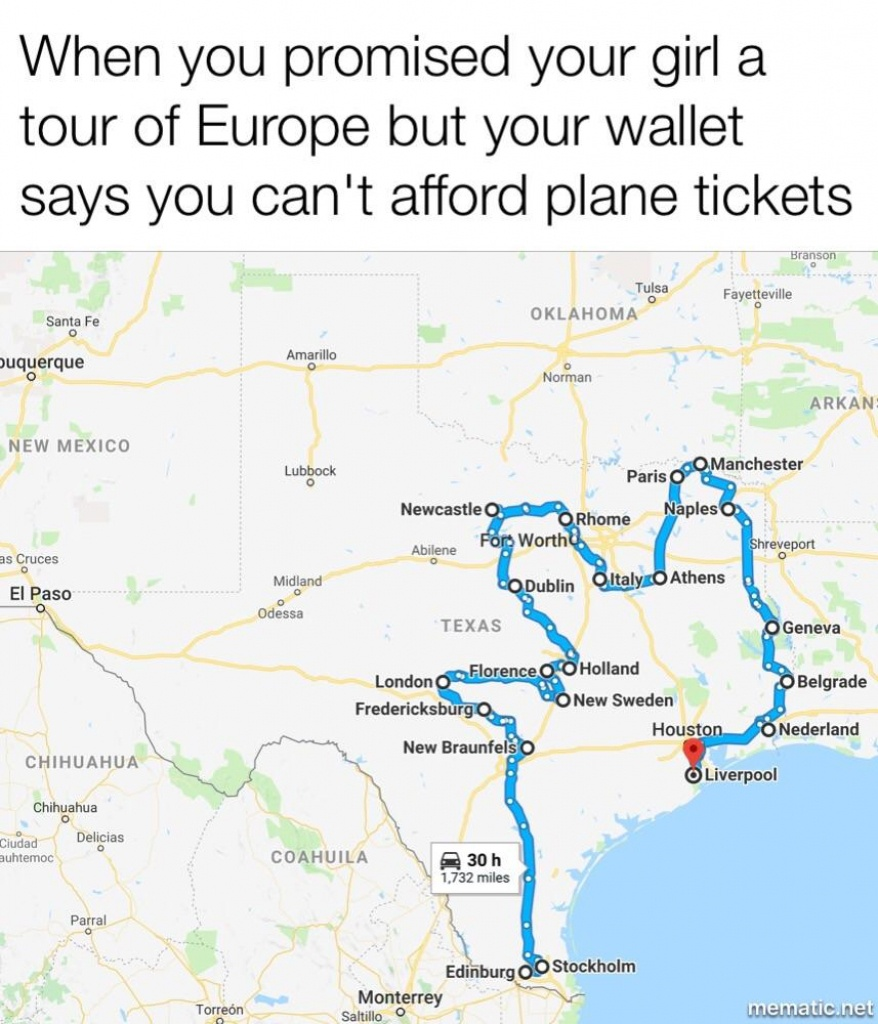 A Texas Style Grand Tour. Updated Map To Include Suggested Cities - Roma Texas Map