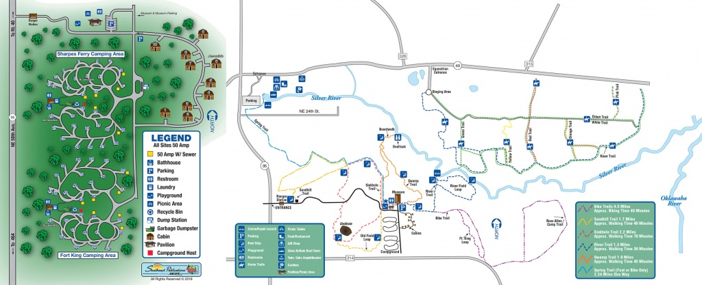 About Silver Springs State Park-Florida's First Attraction, World - Florida Springs Map