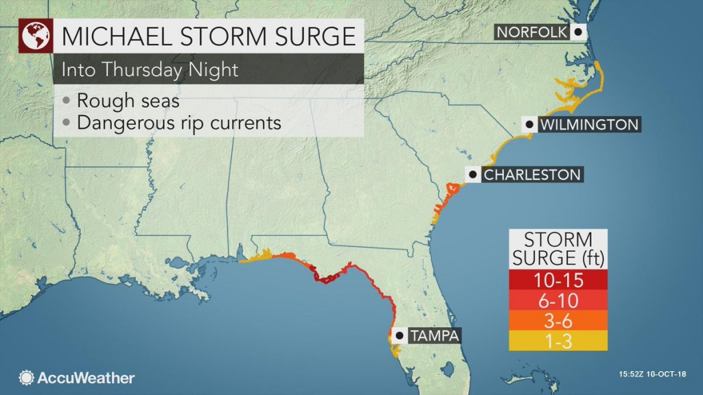 """Accuweather On Twitter: """"a Significant Amount Of Water Will Be - Mexico Beach Florida Map"""
