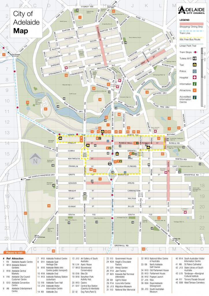 Adelaide Maps | Australia | Maps Of Adelaide - Printable Map Of Adelaide Suburbs