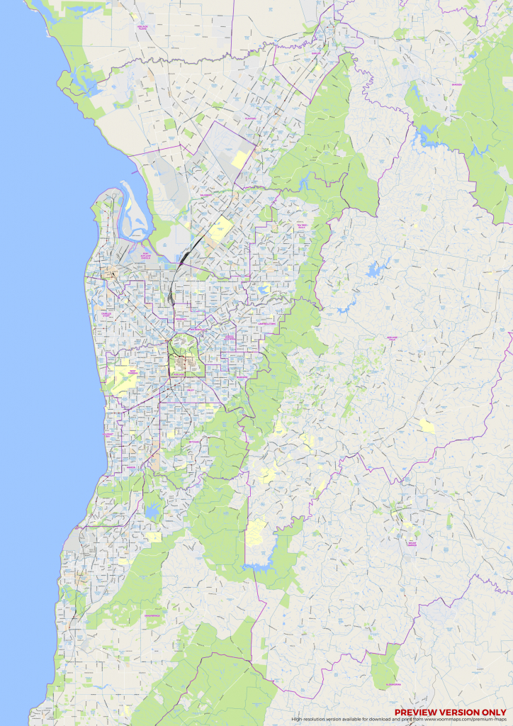 Adelaide Suburbs Map – Voommaps - Printable Map Of Adelaide Suburbs