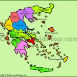 Administrative Map Of Greece   Printable Map Of Greece