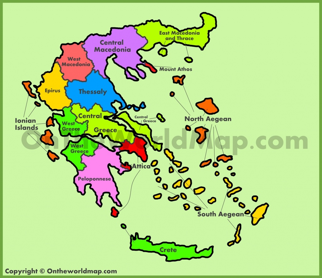 Administrative Map Of Greece - Printable Map Of Greece