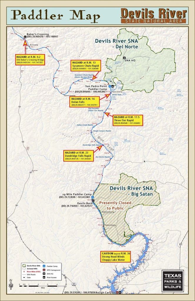 Advanced 3 Day Paddling Trip Down Devil's River In Texas. | Kayaking - Texas Kayak Fishing Maps
