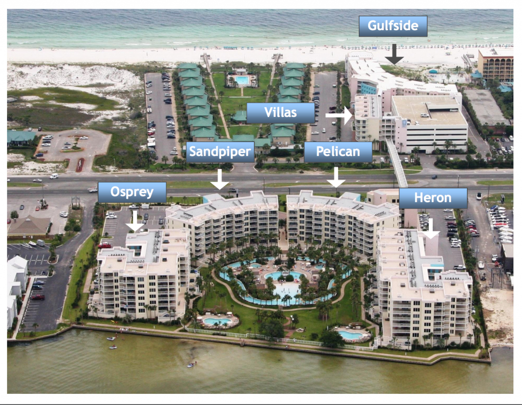 Aerial Map Of Destin West Beach And Bay Resort | Destin West Vacations - Map Of Destin Florida Condos