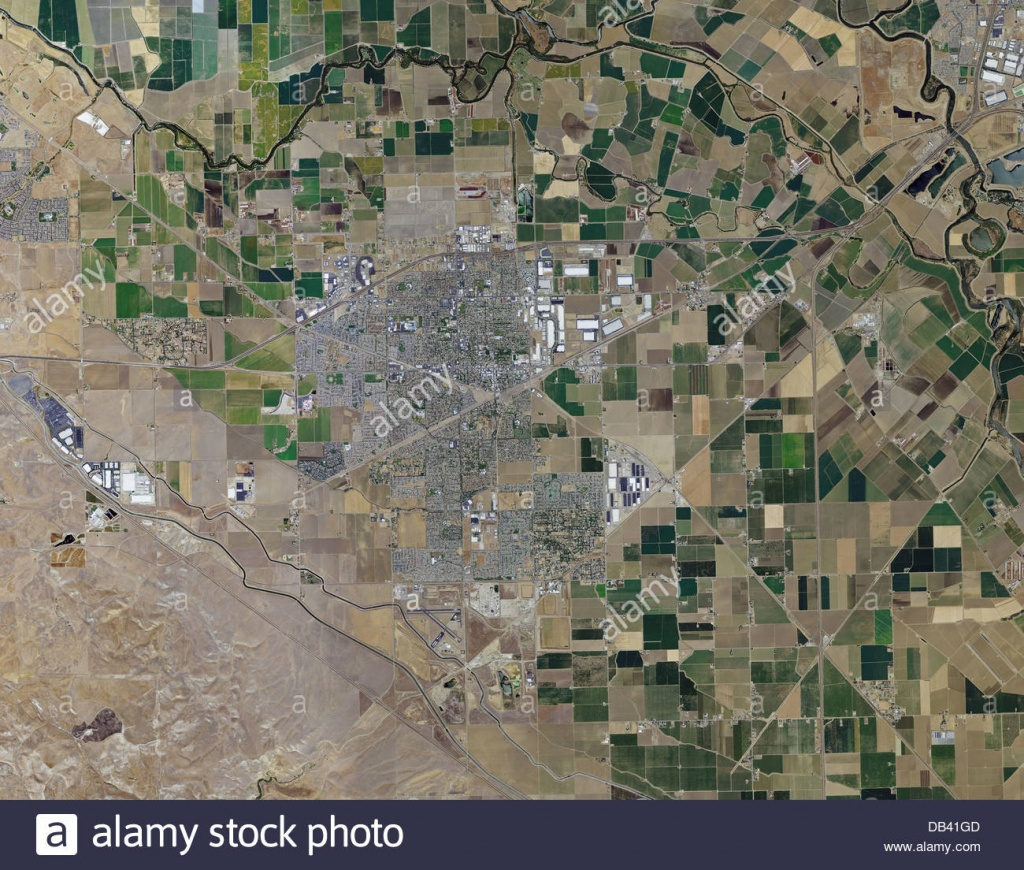 Aerial Photo Map Of Tracy, California Stock Photo: 58481373 - Alamy - Tracy California Map