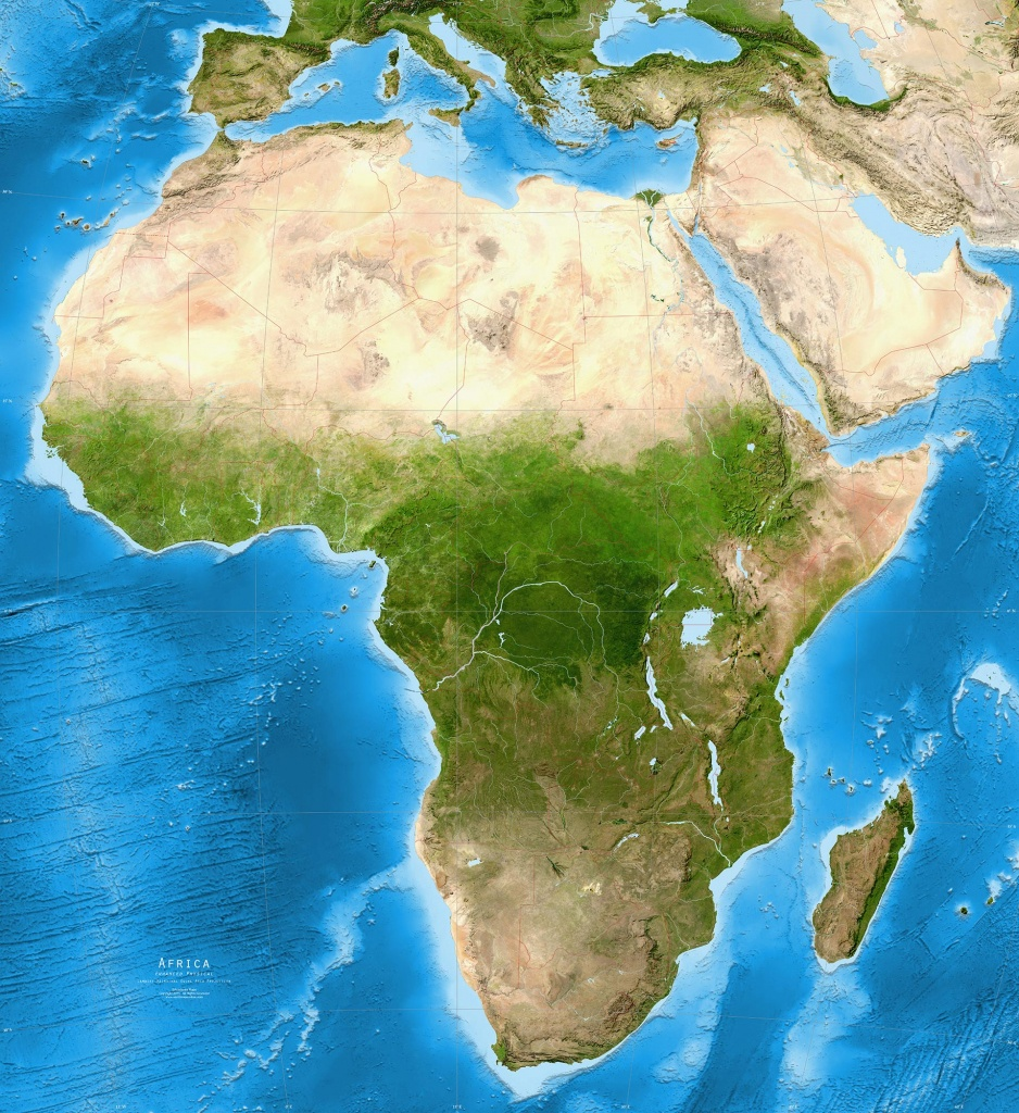Africa Map Satellite View | Campinglifestyle - Printable Satellite Maps