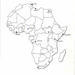 Africa Map With Capitals Black And White | Campinglifestyle   Printable Map Of Africa With Capitals