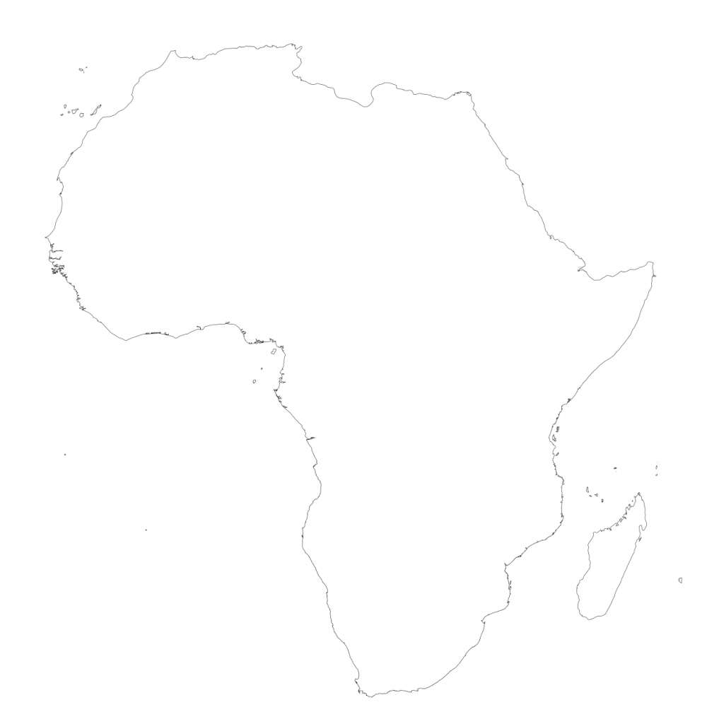 Africa – Printable Maps –Freeworldmaps - Africa Outline Map Printable