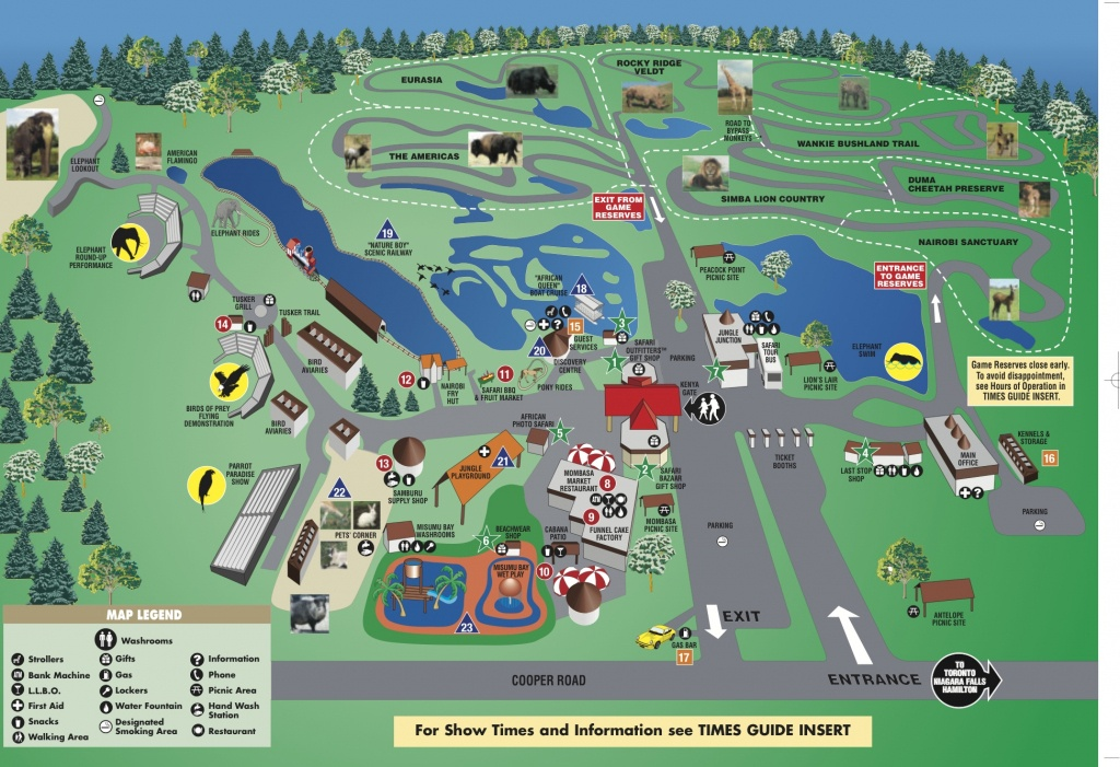 African Lion Safari   Lanner Falcon African Lion Safari - Lion Country Safari Florida Map