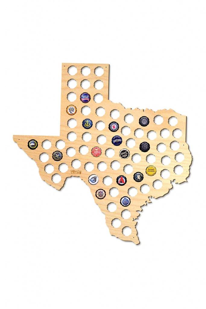 After 5 | Texas Beer Cap Map | Nordstrom Rack - Texas Beer Cap Map