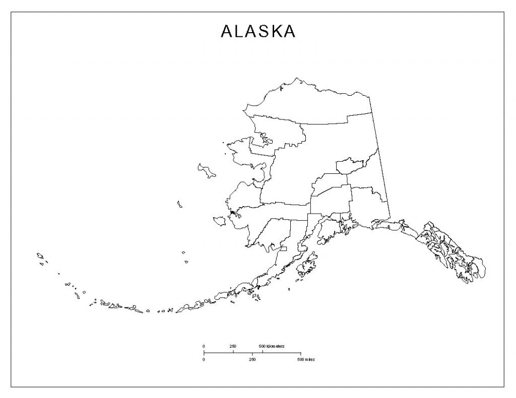 Alaska Blank Map - Alaska State Map Printable