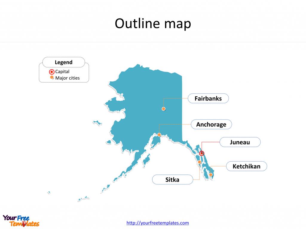 Alaska Maps Online Powerpoint Templates - Free Powerpoint Templates - Free Printable Map Of Alaska