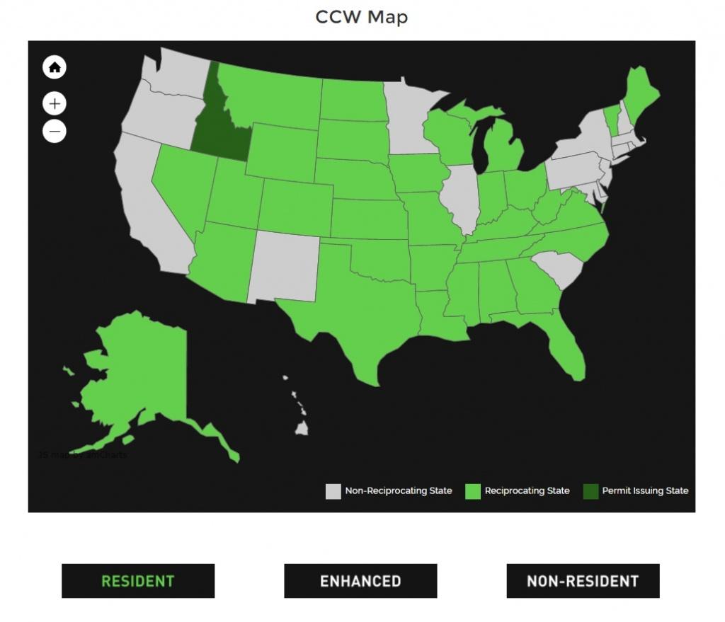 Alien Gear Holsters - Texas Reciprocity Map