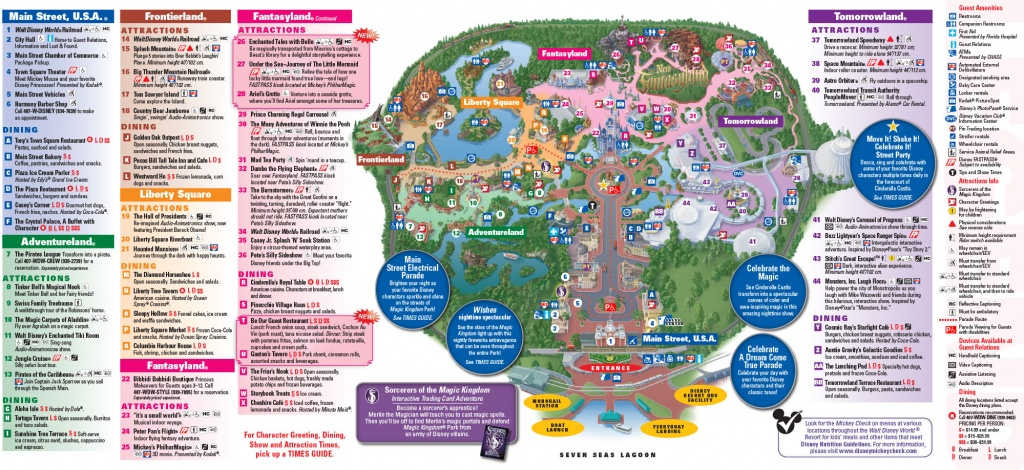 All Walt Disney World Resort Theme Park Maps   Meet The Magic - Printable Disney Park Maps