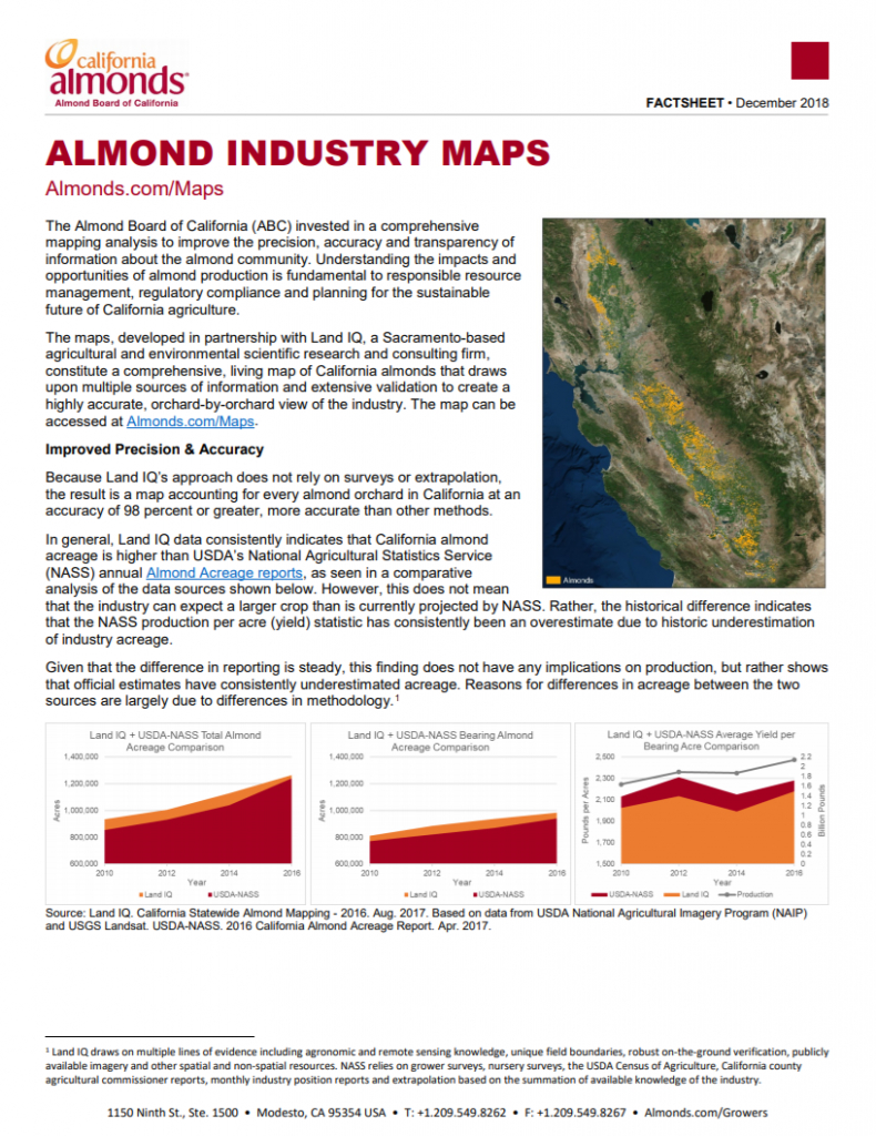 Almond Industry Maps | California Almonds - Your Favorite Easy Snack - California Almond Farms Map