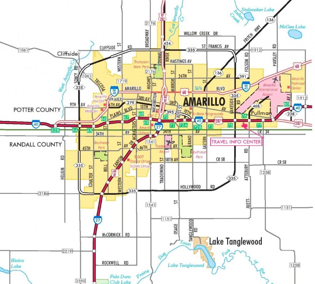 Amarillo Road Map - City Map Of Amarillo Texas