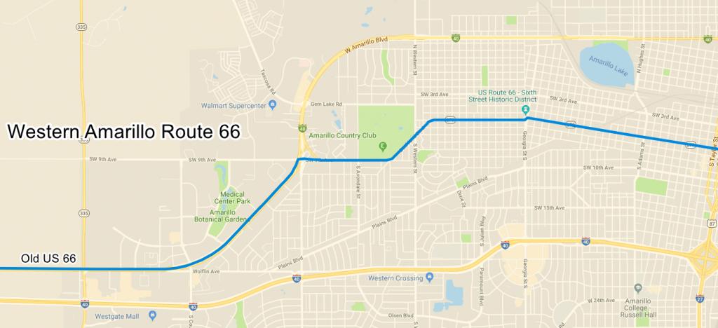 Amarillo Route 66 Texas - Route 66 Texas Map