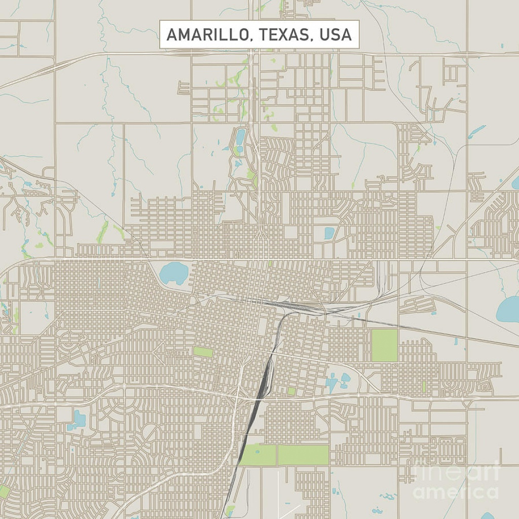 Amarillo Texas Us City Street Map Digital Artfrank Ramspott - City Map Of Amarillo Texas